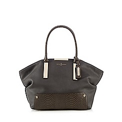 J by Jasper Conran - Grey slouch bar shoulder bag