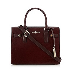 J by Jasper Conran - Dark red faux pony hair grab bag