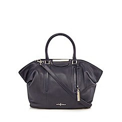 J by Jasper Conran - Navy metal slouch shoulder bag