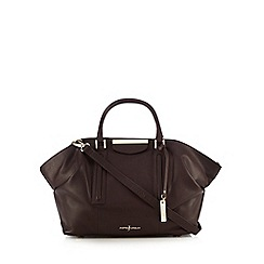 J by Jasper Conran - Dark purple leather grab bag