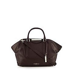 J by Jasper Conran - Dark purple leather grab bag