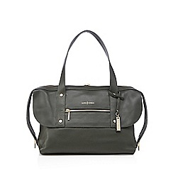 J by Jasper Conran - Green leather zip pocket shoulder bag