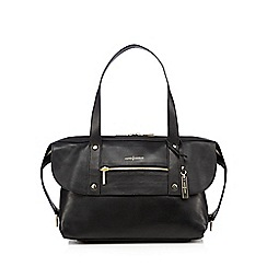 J by Jasper Conran - Black leather zip pocket shoulder bag