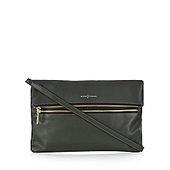J by Jasper Conran - Green leather zip front cross body bag