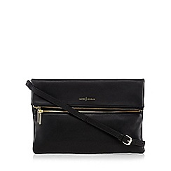 J by Jasper Conran - Black leather zip front cross body bag