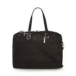 J by Jasper Conran - Black snake weekender bag