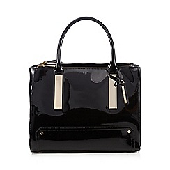 J by Jasper Conran - Black patent grab bag