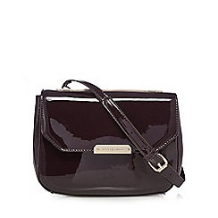 J by Jasper Conran - Purple patent round cross body bag