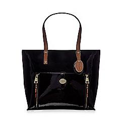 J by Jasper Conran - Designer black patent large shopper bag