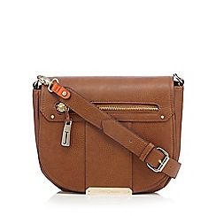 J by Jasper Conran - Designer tan grained saddle bag
