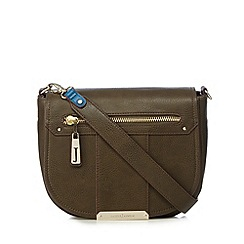 J by Jasper Conran - Designer khaki grained saddle bag