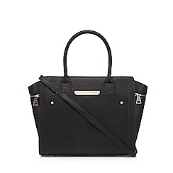J by Jasper Conran - Designer black winged large grab bag