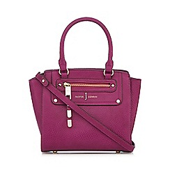 J by Jasper Conran - Designer dark pink grained grab bag