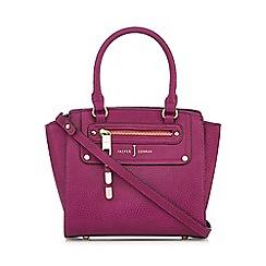 J by Jasper Conran - Designer dark pink grained grab bag