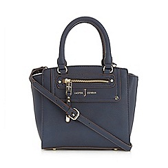 J by Jasper Conran - Navy zip pocket grab bag