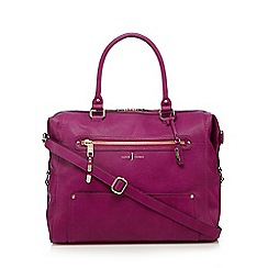 J by Jasper Conran - Designer dark pink weekender bag