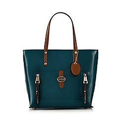 J by Jasper Conran - Turquoise patent small shopper bag