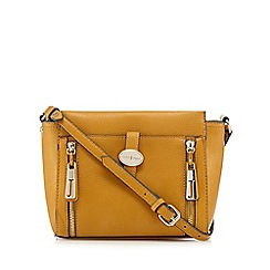 J by Jasper Conran - Dark yellow tab front cross body bag