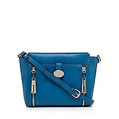 J by Jasper Conran - Blue zipped cross body bag