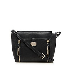 J by Jasper Conran - Black tab front cross body bag