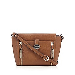 J by Jasper Conran - Designer tan tab pocket cross body bag