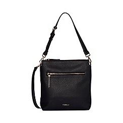 J by Jasper Conran - Black textured zip detail weekender bag