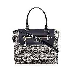 J by Jasper Conran - Black tweed weekender bag