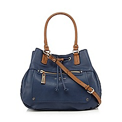J by Jasper Conran - Navy grained large grab bag