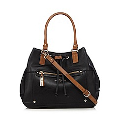 J by Jasper Conran - Black grained large grab bag