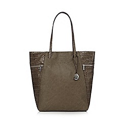 RJR.John Rocha - Designer grey zipped croc side shopper bag