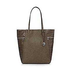 RJR.John Rocha - Designer grey zipped croc side shopper bag