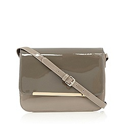 RJR.John Rocha - Designer grey patent bar cross body bag