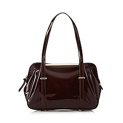 RJR.John Rocha - Designer wine patent bar shoulder bag