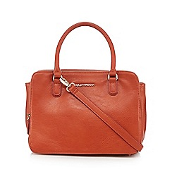 RJR.John Rocha - Designer orange double zip grab bag