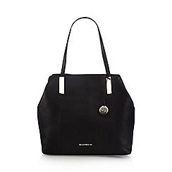 RJR.John Rocha - Designer black leather grab bag