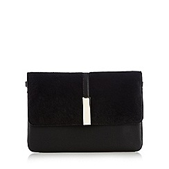 RJR.John Rocha - Black metal faux pony cross body bag