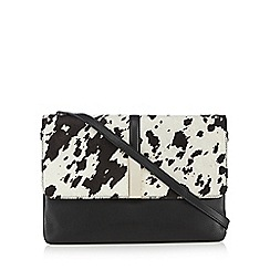 RJR.John Rocha - Off white leather pony hair insert cross body bag