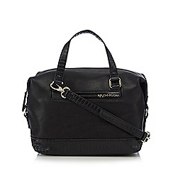 RJR.John Rocha - Black animal print trim bowler bag