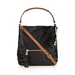 RJR.John Rocha - Designer black textured front pocket shoulder bag