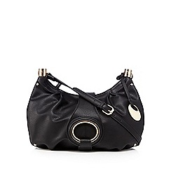 RJR.John Rocha - Black grained cross body bag