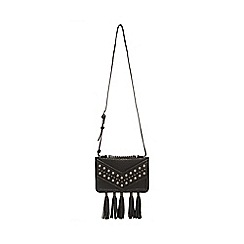 Todd Lynn/EDITION - Black studded tasselled cross body bag