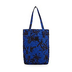 Betty Jackson.Black - Designer blue quilted brushstroke shopper bag