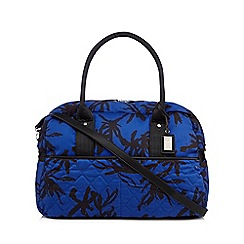 Betty Jackson.Black - Designer blue quilted weekender bag