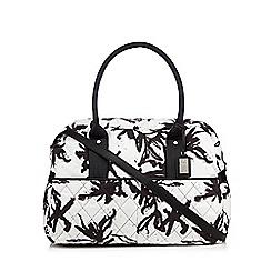 Betty Jackson.Black - Designer black quilted weekender bag