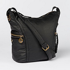 Betty Jackson.Black - Designer black textured cross body bag