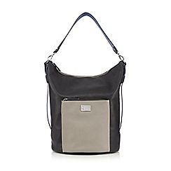 Betty Jackson.Black - Designer black front pocket large hobo bag