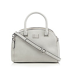 Betty Jackson.Black - Designer light grey mock croc dome bag