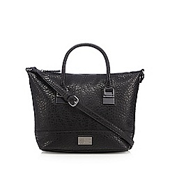 Betty Jackson.Black - Designer black grained winged grab bag