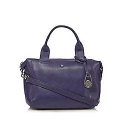 Betty Jackson.Black - Designer purple leather winged medium bowler bag