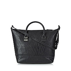 Betty Jackson.Black - Black grained large grab bag